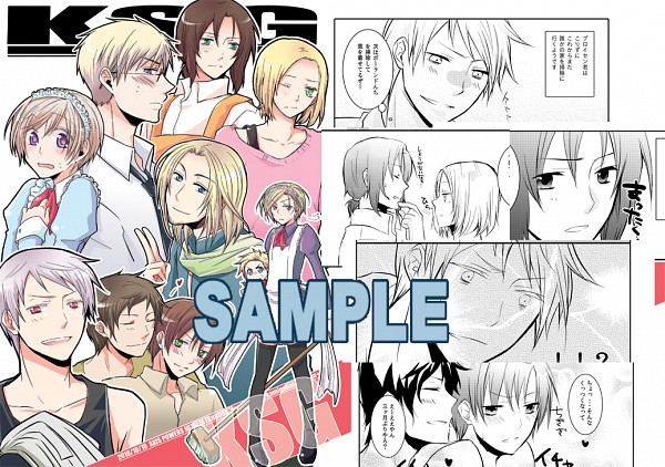 Tags: Anime, Axis Powers: Hetalia, Denmark, France, Spain, Lithuania, Norway, Finland, Estonia, South Italy, Sweden, Prussia, Poland