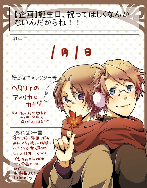 Tags: Anime, Axis Powers: Hetalia, United States, Canada, Allied Forces