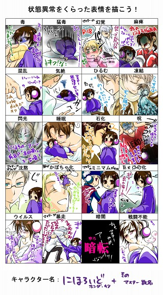 Tags: Anime, Axis Powers: Hetalia, Russia, United Kingdom, Prussia, United States, China, Germany, France, Sweden, Nihonloid, North Italy, Japan