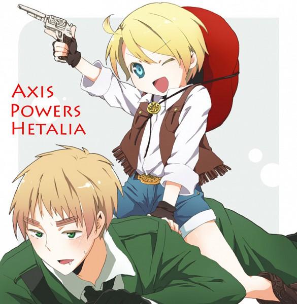 Tags: Anime, Axis Powers: Hetalia, United States, United Kingdom, Cowboy, Western, Allied Forces