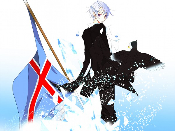 Tags: Anime, Pixiv Id 2789545, Axis Powers: Hetalia, Iceland, Mr. Puffin, Puffin, Pixiv, Fanart, Nordic Countries