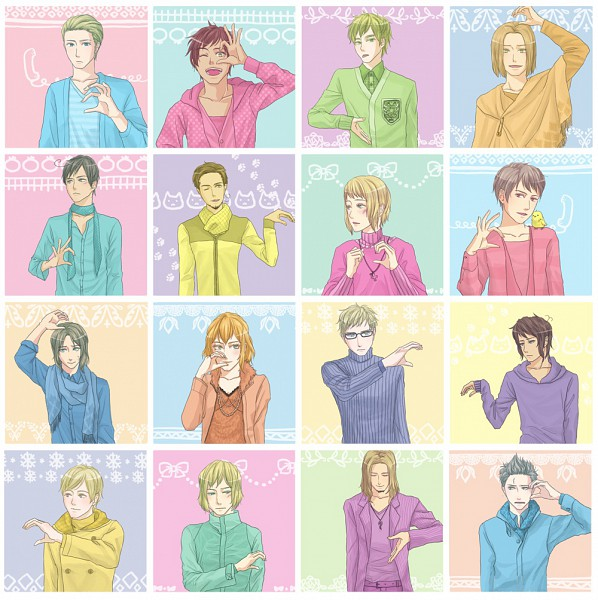 Tags: Anime, Axis Powers: Hetalia, Netherlands, Liechtenstein, Finland, Lithuania, Belgium, Sweden, Prussia, South Italy, Spain, France, Turkey