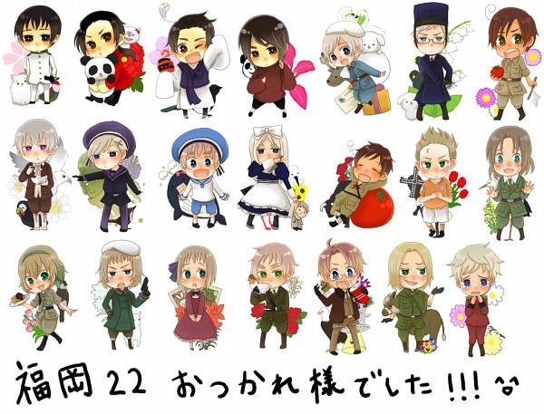 Tags: Anime, Axis Powers: Hetalia, Sweden, Latvia, South Italy, Switzerland, Spain, Iceland, Lithuania, Poland, Liechtenstein, Sealand, Netherlands