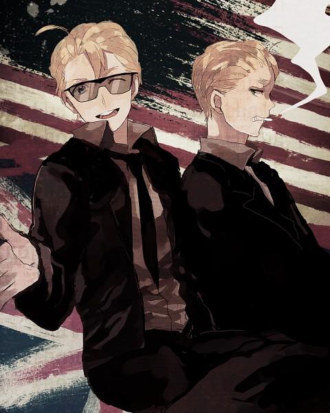 Tags: Anime, Napa, Axis Powers: Hetalia, United States, United Kingdom, Fanart, Pixiv, Allied Forces