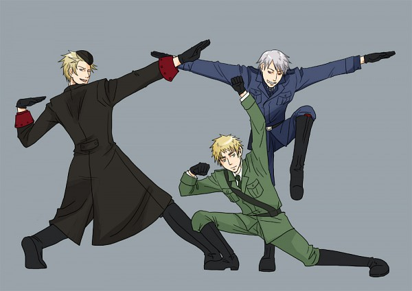 Tags: Anime, Pixiv Id 1863324, Axis Powers: Hetalia, Denmark, United Kingdom, Prussia, Nordic Countries, Germanic Countries, Allied Forces