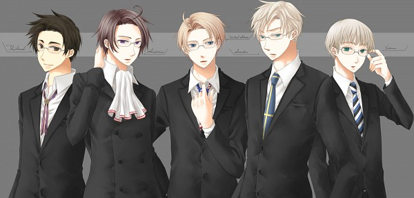 Tags: Anime, Axis Powers: Hetalia, United States, Estonia, Thailand, Sweden, Austria, Facebook Cover, Asian Countries, Nordic Countries, Soviet Union, Allied Forces