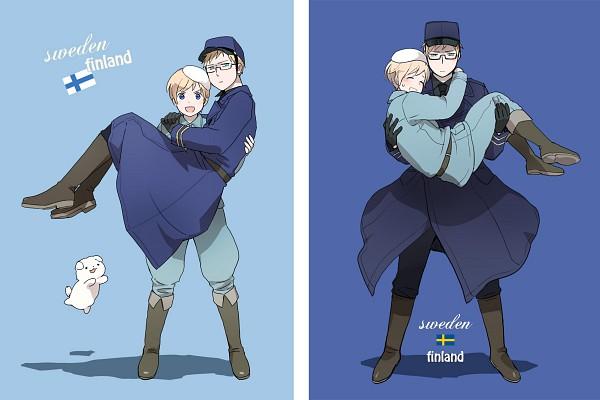 Tags: Anime, Utako, Axis Powers: Hetalia, Hanatamago, Finland, Sweden, Fanart, Pixiv, SuFin