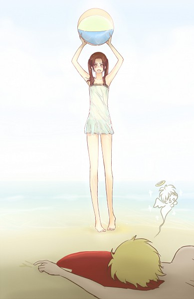 Tags: Anime, Axis Powers: Hetalia, United Kingdom, China, Swimsuit Under Clothes, Mobile Wallpaper, Asian Countries, Allied Forces