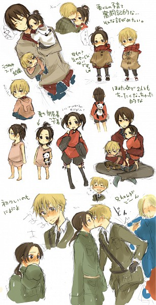 Tags: Anime, Axis Powers: Hetalia, United Kingdom, China, Hong Kong, France, Artist Request, Allied Forces, Asian Countries