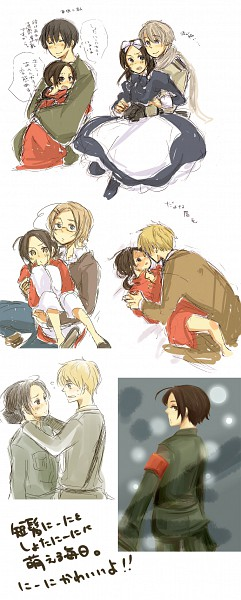 Tags: Anime, Axis Powers: Hetalia, United States, Russia, China, Japan, Canada, Artist Request, Soviet Union, Axis Power Countries, Allied Forces, RoChu, Asian Countries