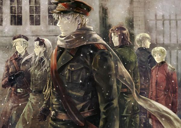 Tags: Anime, Kamamoto (Monotonecolor), Axis Powers: Hetalia, Estonia, Latvia, Belarus, Lithuania, Ukraine, Russia, Allied Forces, Soviet Union