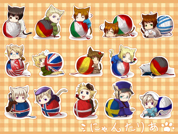 Tags: Anime, Inarimeshi, Axis Powers: Hetalia, Prussia, United Kingdom, France, Finland, United States, Iceland, Mr. Puffin, Japan, Sweden, Germany