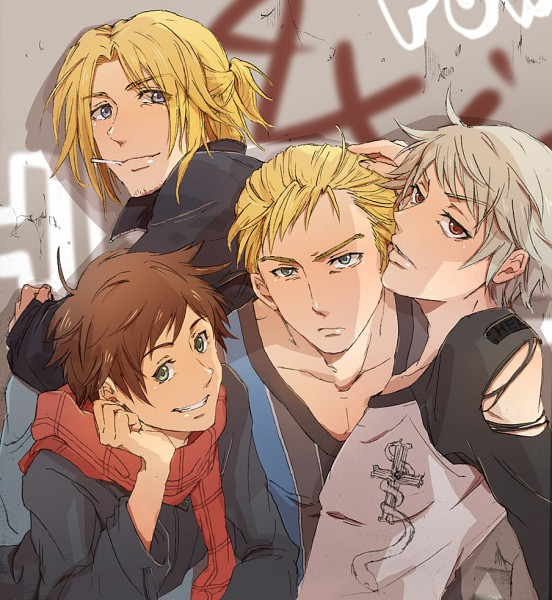 Tags: Anime, Pixiv Id 23557, Axis Powers: Hetalia, Spain, Germany, Prussia, France, Fanart, Pixiv, Mediterranean Countries, Axis Power Countries, Allied Forces