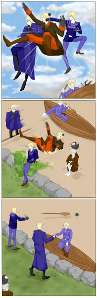 Tags: Anime, Axis Powers: Hetalia, Finland, Sweden, Denmark, Iceland, Mr. Puffin, Norway, Puffin, Boat, Paddle, Nordic Countries