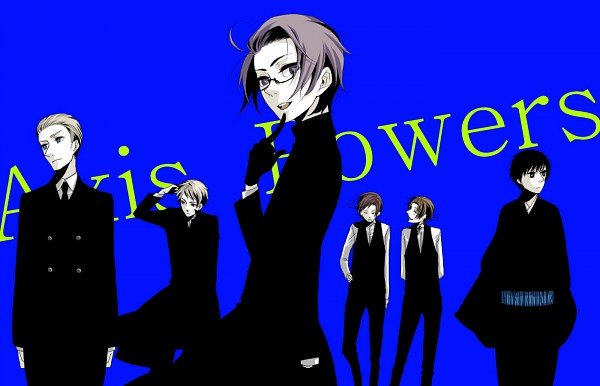 Tags: Anime, Pixiv Id 1054708, Axis Powers: Hetalia, Germany, North Italy, Prussia, South Italy, Japan, Austria