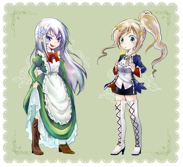 Tags: Anime, Pixiv Id 2408189, Axis Powers: Hetalia, Hungary, Prussia (Female), Gilbird, Bird on Shoulder, Prussia (Female) (Cosplay), Hungary (Cosplay), Prussia (Cosplay), Nyotalia, Fanart, Pixiv