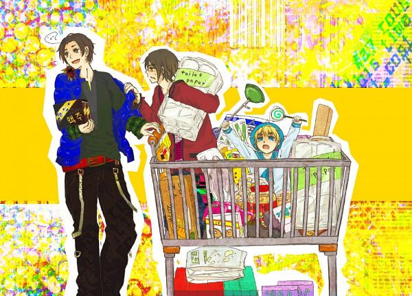 Tags: Anime, Axis Powers: Hetalia, South Korea, Sealand, Hong Kong, Shopping, Spirit Curl, Asian Countries