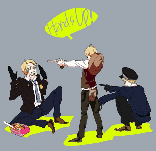 Tags: Anime, Tachibana (Pixiv130510), Axis Powers: Hetalia, United Kingdom, United States, Fanart, Pixiv, Allied Forces