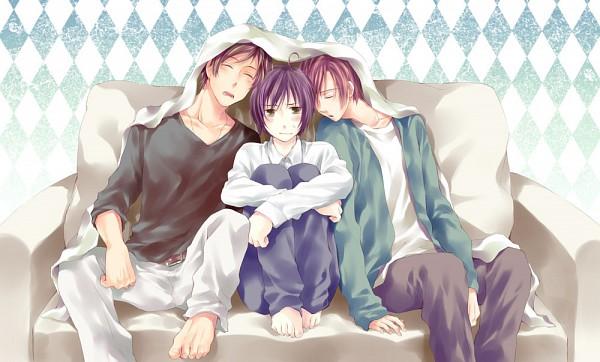 Tags: Anime, Sui (Pixiv 3254109), Axis Powers: Hetalia, Spain, Japan, South Italy, Fanart, Pixiv
