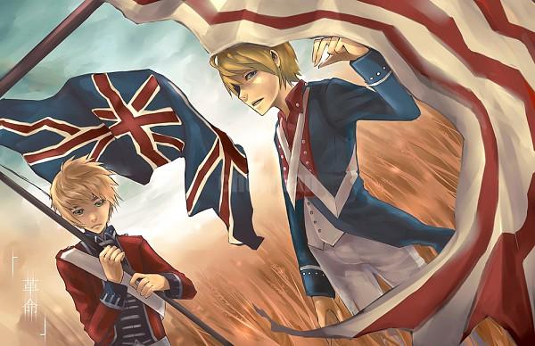 Tags: Anime, Chowpan, Axis Powers: Hetalia, United Kingdom, United States, American Revolutionary War, Fanart, deviantART, Allied Forces