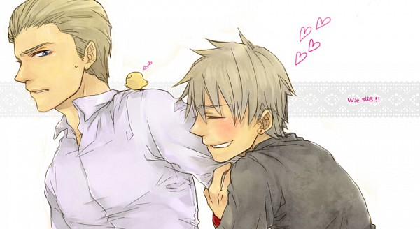 Tags: Anime, Pixiv Id 70993, Axis Powers: Hetalia, Germany, Prussia, Gilbird, Facebook Cover