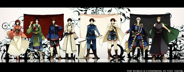 Tags: Anime, Komayuki Koma, Axis Powers: Hetalia, North Italy, Taiwan, South Korea, Prussia, Hong Kong, Sealand, France, Germany, Japan, Hetaquest