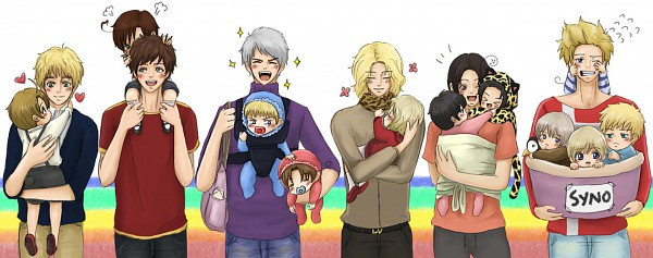 Tags: Anime, Axis Powers: Hetalia, Spain, Prussia, Finland, United Kingdom, China, Sweden, United States, Iceland, France, Denmark, Germany
