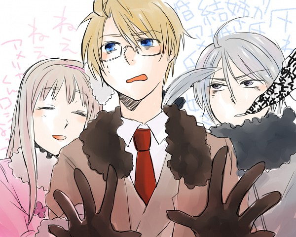 Tags: Anime, Kiyomura, Axis Powers: Hetalia, United States, Russia (Female), Belarus (Male), Nyotalia, Allied Forces