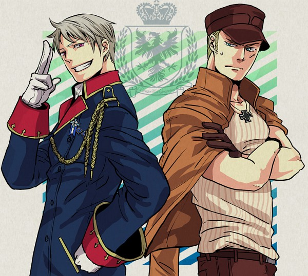 Tags: Anime, Ypyp, Axis Powers: Hetalia, Germany, Prussia, Iron Cross, Pixiv, Player 2, Axis Power Countries