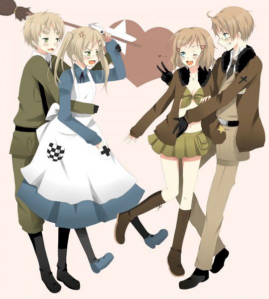 Tags: Anime, KawaiiPandah, Axis Powers: Hetalia, United States, United Kingdom (Female), United States (Female), United Kingdom, Nyotalia, Allied Forces