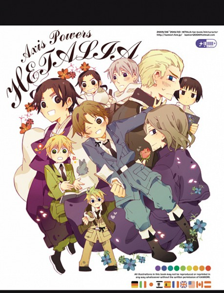 Tags: Anime, Axis Powers: Hetalia, China, South Korea, France, Germany, Japan, North Italy, Russia, Asian Countries, Mediterranean Countries, Soviet Union, Axis Power Countries