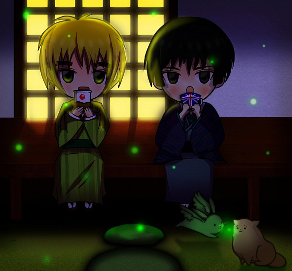 Tags: Anime, Axis Powers: Hetalia, United Kingdom, Japan, Fireflies, Axis Power Countries, Allied Forces, Asian Countries