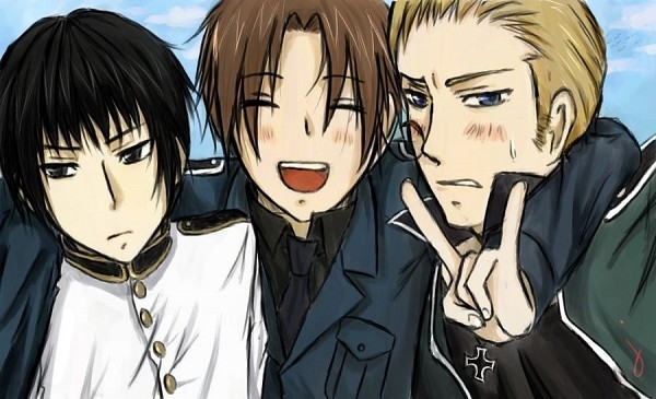 Tags: Anime, Axis Powers: Hetalia, Germany, North Italy, Japan, deviantART, Asian Countries, Mediterranean Countries, Axis Power Countries