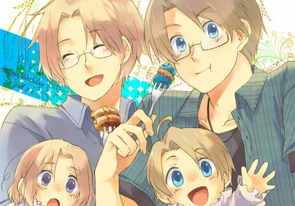 Tags: Anime, Konatsu Hare, Axis Powers: Hetalia, Canada, United States, France, Pancakes, Pixiv, Fanart, AmeCan