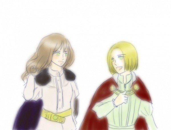 Tags: Anime, Axis Powers: Hetalia, Hungary, Poland, Polish Clothes, History, Pixiv, Polish Hungarian Friendship Day, Fanart