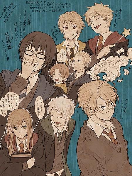 Tags: Anime, Shou G, Axis Powers: Hetalia, United Kingdom, Hungary, United States, Japan, Germany, North Italy, Romania, Prussia, Harry Potter (Parody), Harry Potter (Cosplay)