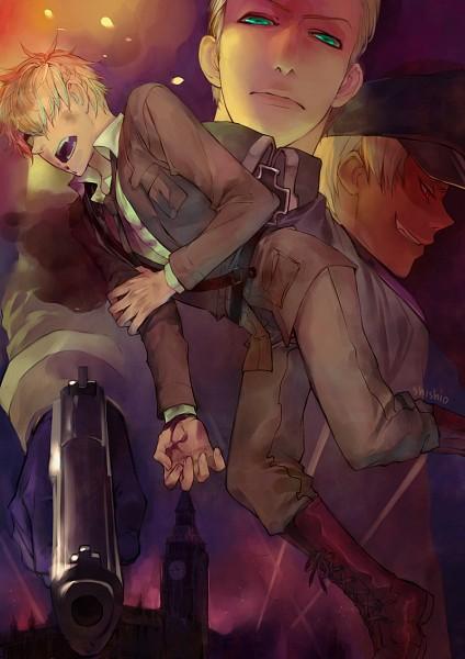 Tags: Anime, shishio*, Axis Powers: Hetalia, United Kingdom, Germany, Prussia, Big Ben, Axis Power Countries, Allied Forces