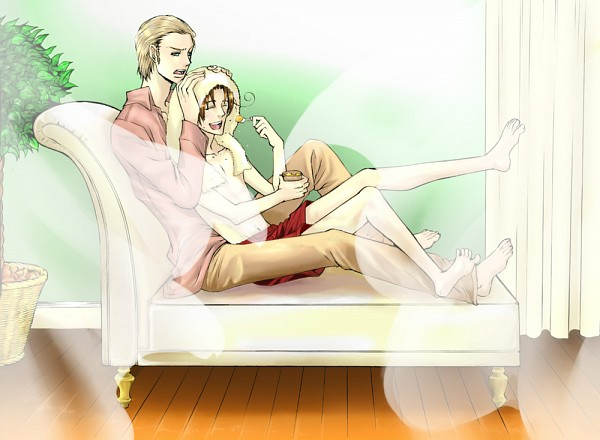 Tags: Anime, Pixiv Id 977483, Axis Powers: Hetalia, North Italy, Germany, Fanart, Pixiv, Germanic Countries, Mediterranean Countries, Axis Power Countries