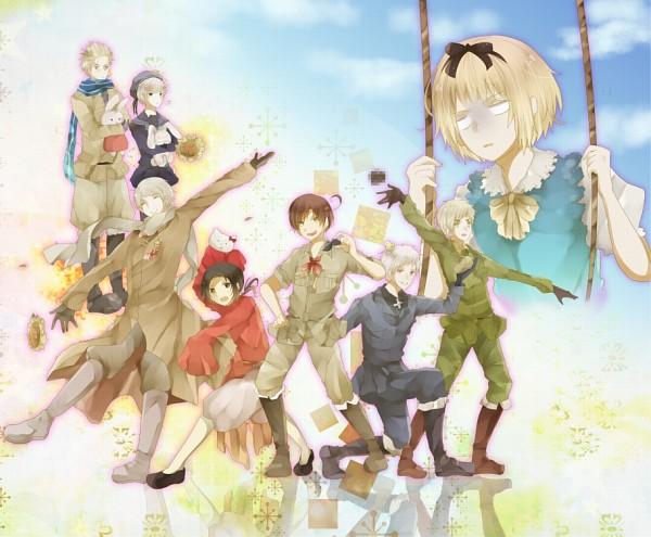 Tags: Anime, Sumomo Kaze, Sanrio, Axis Powers: Hetalia, China, Netherlands, Hello Kitty, Switzerland, Norway, United Kingdom, South Italy, Russia, Prussia