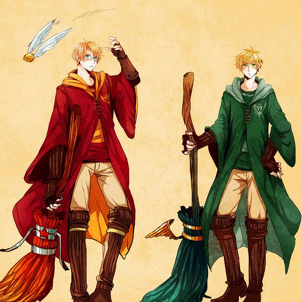 Tags: Anime, Pixiv Id 779753, Axis Powers: Hetalia, United Kingdom, United States, Quidditch Uniform, Snitch, Harry Potter (Cosplay), Harry Potter (Parody), Quidditch, Fanart, Pixiv, Gryffindor House
