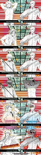 Tags: Anime, Pixiv Id 380202, Axis Powers: Hetalia, Japan, Austria, Prussia, Greece, United Kingdom, France, Rome, United States, Belarus, Sweden