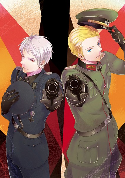 Tags: Anime, K-anzu, Axis Powers: Hetalia, Germany, Prussia, Mobile Wallpaper, Axis Power Countries