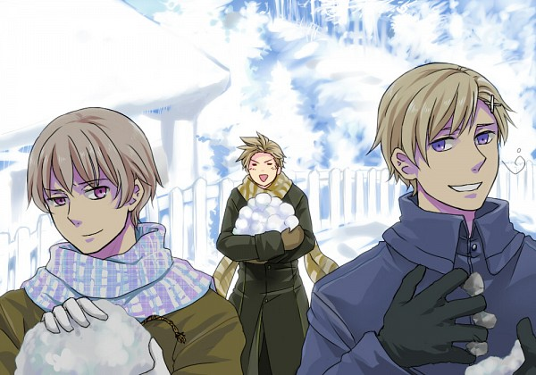 Tags: Anime, Oosugimichiko, Axis Powers: Hetalia, Norway, Denmark, Iceland, Snowball, Nordic Countries