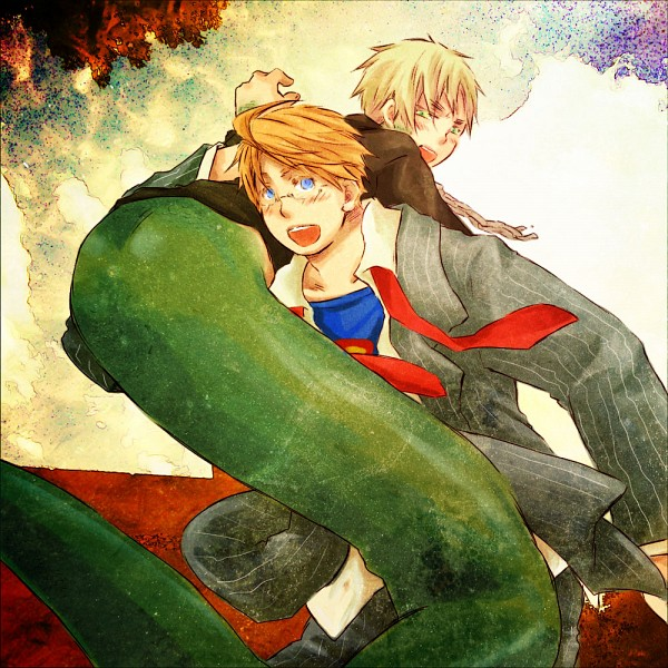 Tags: Anime, Axis Powers: Hetalia, United Kingdom, United States, Lamia, United, Superman (Cosplay), DC Comics, Allied Forces