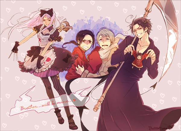 Tags: Anime, Ma Sdm0130, Axis Powers: Hetalia, Russia, China, South Korea, Belarus, Grim Reaper, Pixiv, Hetaween, Fanart, Hetaween 2011