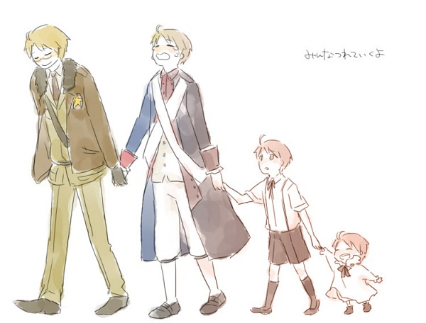 Tags: Anime, Pixiv Id 2211140, Axis Powers: Hetalia, United States, Age Progression, Fanart, American Revolutionary War, Pixiv, Allied Forces