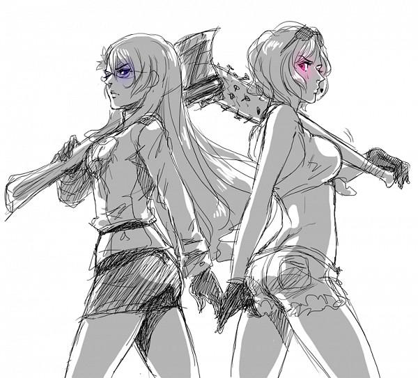 Tags: Anime, Axis Powers: Hetalia, United States (Female), Canada (Female), Player 2, Nyotalia