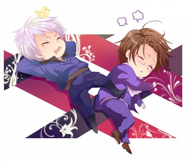 Tags: Anime, 【HZ】, Axis Powers: Hetalia, Gilbird, Austria, Prussia, Axis Power Countries, PrusAus, Germanic Countries