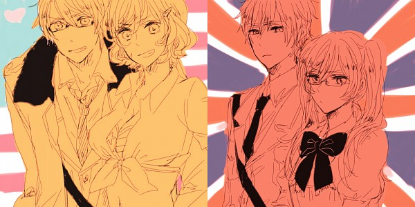 Tags: Anime, Pixiv Id 328376, Axis Powers: Hetalia, United States, United Kingdom (Female), United Kingdom, United States (Female), Nyotalia, Facebook Cover, Allied Forces