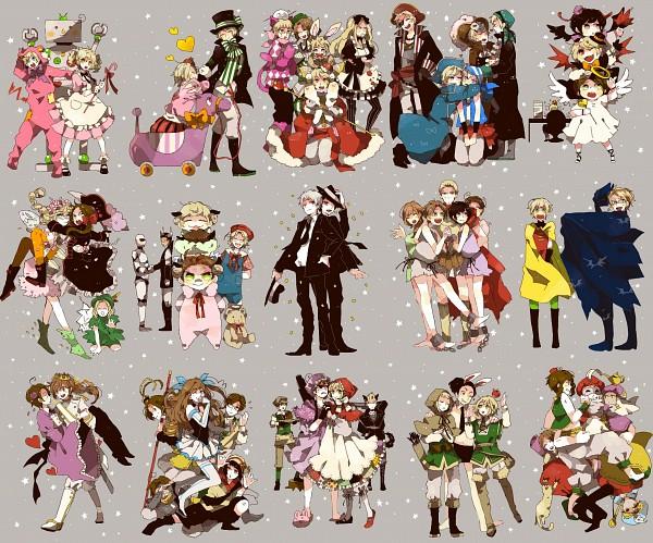 Tags: Anime, Mam233, Axis Powers: Hetalia, Estonia, South Korea, Spain, South Italy, Belarus, Bulgaria, Latvia, Mochimerica, Finland, Seychelles
